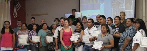 A photo of participants whom completed the workshop