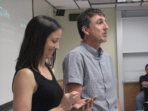 A photo of Daryn and Allsion guest speaking for AILDi